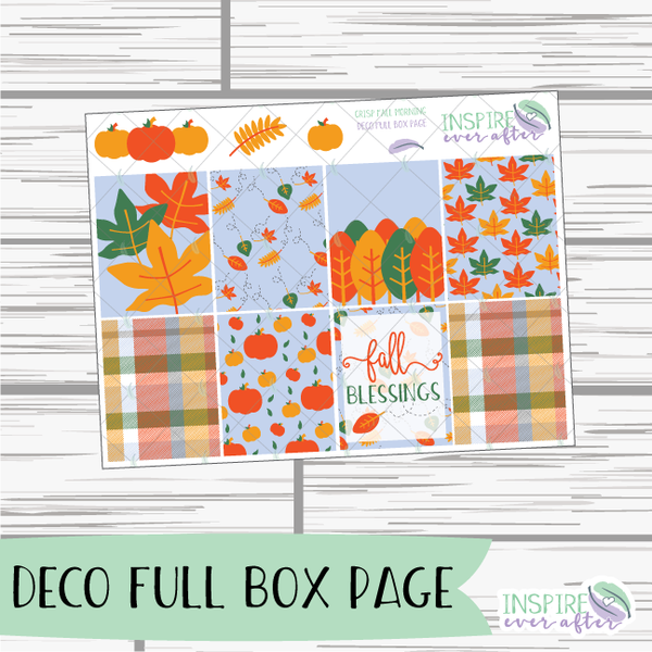 Crisp Fall Morning Weekly Kit ~ Planner Stickers