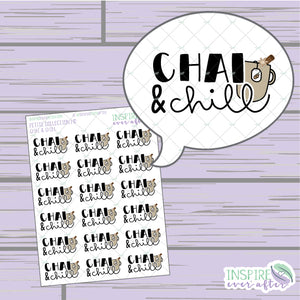 Chai & Chill ~ Hand Drawn Petite Collection ~ Planner Stickers