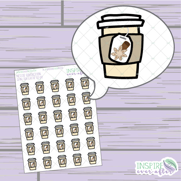 Chai Tea To Go ~ Hand Drawn Petite Collection ~ Planner Stickers