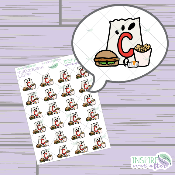 Chicken Fast Food ~ Hand Drawn Foodie Icons ~ Petite Collection ~ Planner Stickers