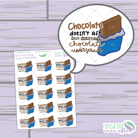 Chocolate Understands ~ Hand Drawn Petite Collection ~ Planner Stickers