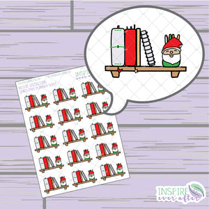 Christmas Planner Shelf ~ Hand Drawn Holiday Icons ~ Petite Collection ~ Planner Stickers