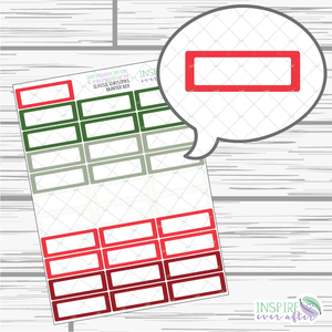 Classic Christmas Quarter Boxes ~ Holiday Functional Planner Stickers