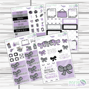 Classy & Fabulous Mini Weekly Kit ~ Planner Stickers