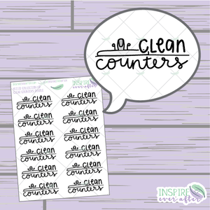 Clean Counters Doodle ~ Hand Drawn Petite Collection ~ Planner Stickers