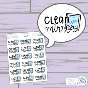 Clean Mirror Doodle ~ Hand Drawn Petite Collection ~ Planner Stickers