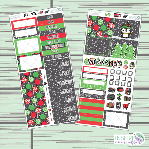 Christmas Night PPWeeks Weekly Kit ~ Hand Drawn Functional Planner Stickers