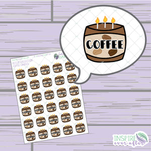 Coffee Candles ~ Hand Drawn Beverage Icon ~ Petite Collection ~ Planner Stickers