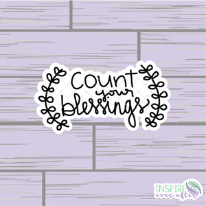 Count Your Blessings Die Cut ~ Hand Drawn Planner Accessories
