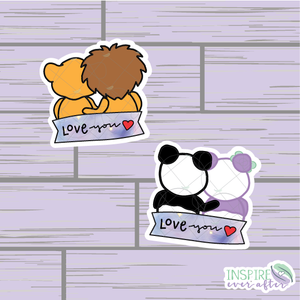 Couples Love You Die Cut ~ Hand Drawn Planner Accessories