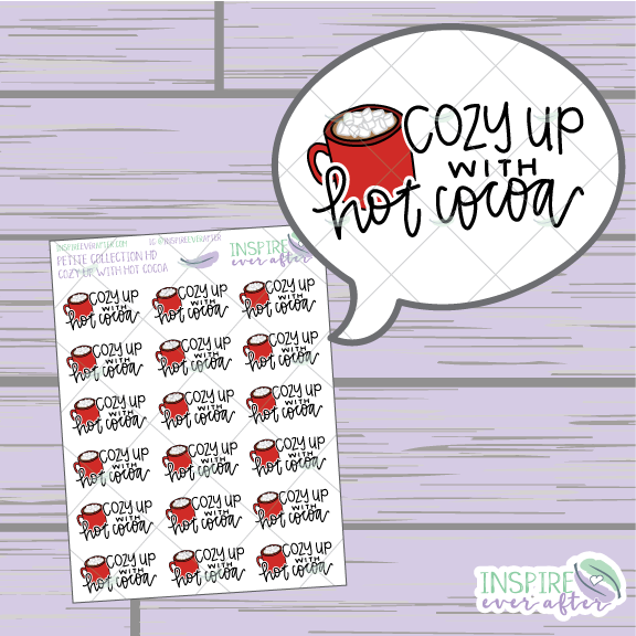 Cozy Up with Hot Cocoa ~ Hand Drawn Petite Collection ~ Planner Stickers