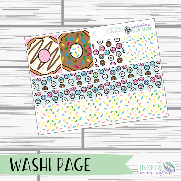 Donut Addict Weekly Kit ~ Hand Drawn Foodie Stickers ~ Planner Stickers