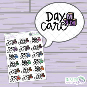 Day Care Doodles ~ Hand Drawn Mom Life Icon Petite Collection ~ Planner Stickers