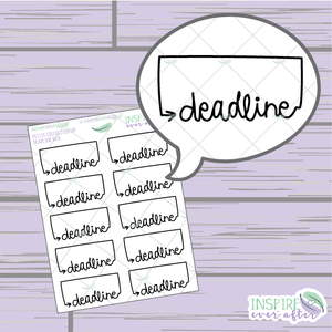 Deadline Box ~ Hand Drawn School/Work Icon ~ Petite Collection ~ Planner Stickers