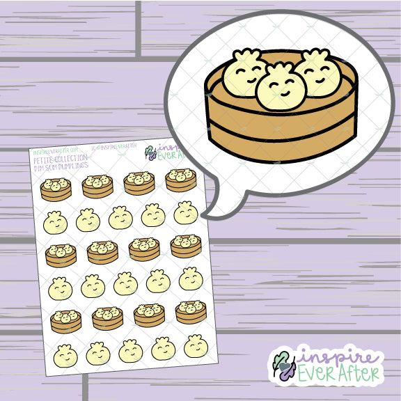 Dumplings ~ Hand Drawn Dim Sum Foodie Icons ~ Petite Collection ~ Planner Stickers