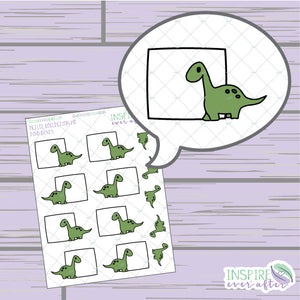 Dino Box ~ Hand Drawn Petite Collection ~ Planner Stickers