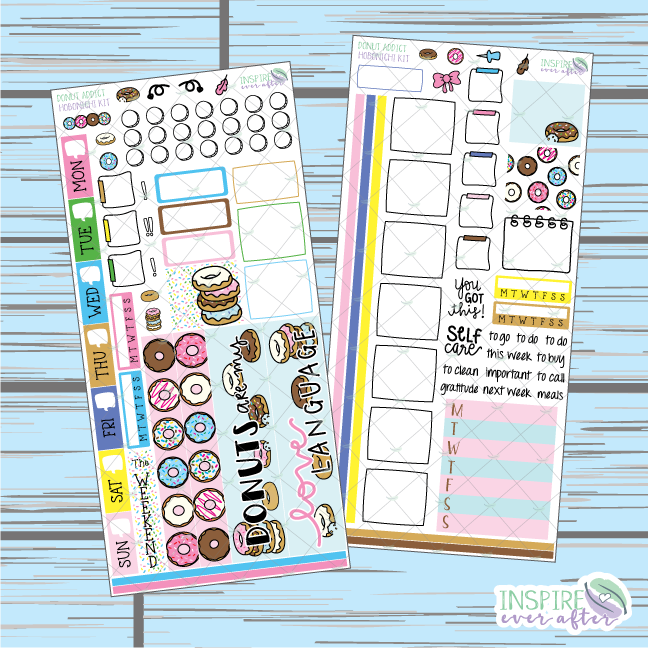 Donut Addict Hobonichi Weekly Kit ~ Hand Drawn Planner Stickers