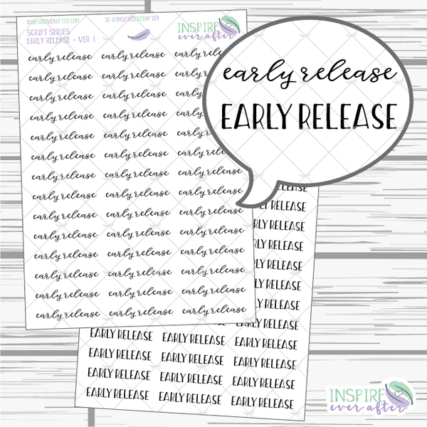 Early Release ~ Script OR Print ~ Script Series ~ Planner Stickers