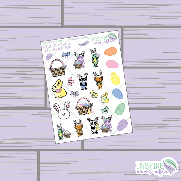 Easter Egg Hunt Deco ~ Hand Drawn Petite Collection ~ Planner Stickers