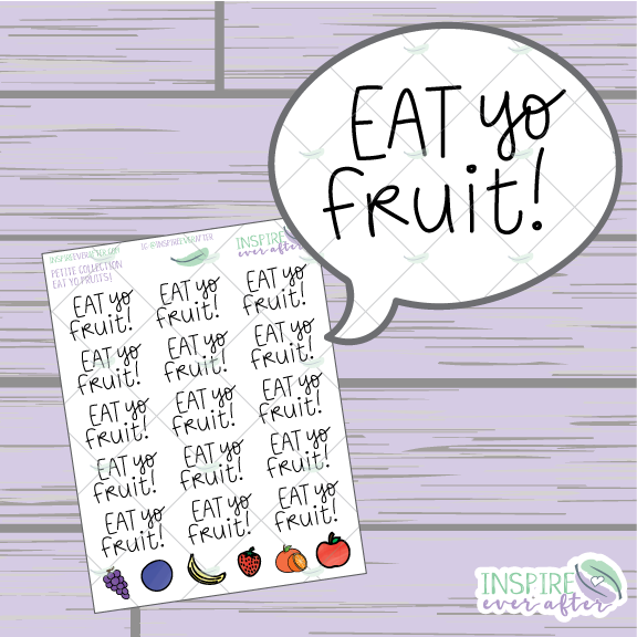 Eat Yo Fruits ~ Hand Drawn Food Icons ~ Petite Collection ~ Planner Stickers