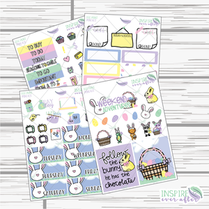 Egg Hunt Mini Weekly Kit ~ Hand Drawn ~ Planner Stickers