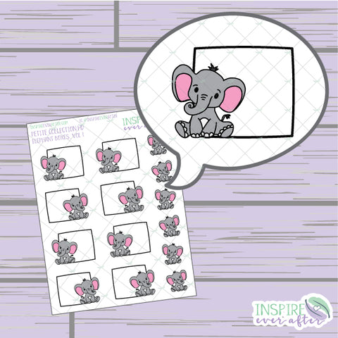 Elephant Box, Vol. 1 ~ Hand Drawn Petite Collection ~ Planner Stickers