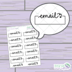 Email Boxes ~ Hand Drawn Petite Collection ~ Planner Stickers