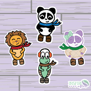 Fall Character Die Cuts ~ Zion, Stevie, Theo OR Lila ~ Hand Drawn Planner Accessories