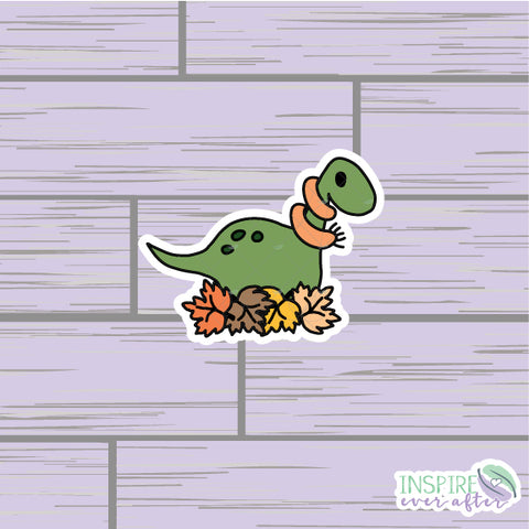 Fall Dino Die Cut ~ Hand Drawn Fall Deco ~ Planner Accessories