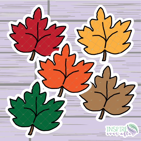 Fall Leaves Die Cut ~ Hand Drawn Planner Accessories