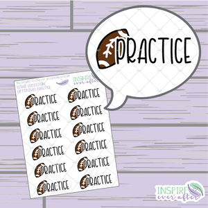 Football Practice ~ Hand Drawn Petite Collection Sport Icon ~ Planner Stickers