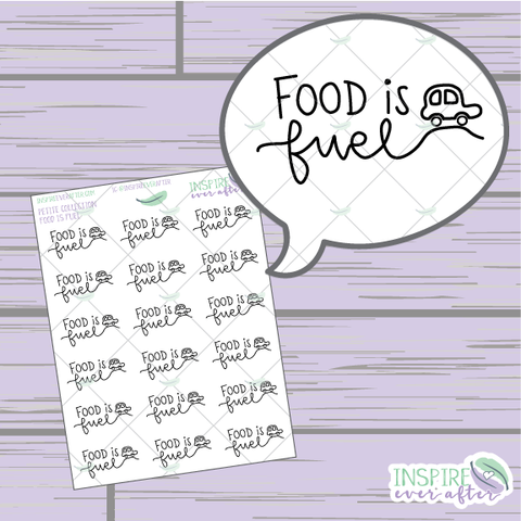 Food is Fuel ~ Hand Drawn Petite Collection ~ Planner Stickers
