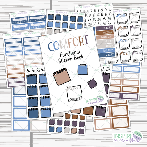 Functional Stickers Books ~ You Choose Your Colorway! ~ Hand Drawn Functional Stickers ~ Planner Stickers