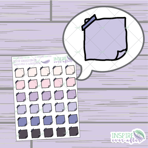 Winter Dusk Washi Folded Note ~ Hand Drawn Petite Collection ~ Planner Stickers