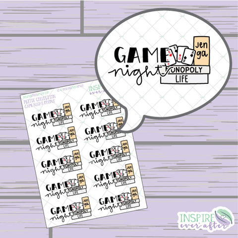 Game Night Doodle ~ Hand Drawn Fun Icons ~ Petite Collection ~ Planner Stickers