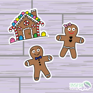 Gingerbread House/People Die Cuts ~ Hand Drawn Planner Accessories