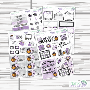 Girl Boss Flow Mini Weekly Kit ~ Hand Drawn Planner Stickers