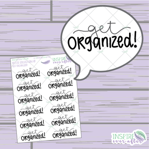 Get Organized! ~ Hand Lettered Cleaning Icon ~ Planner Stickers