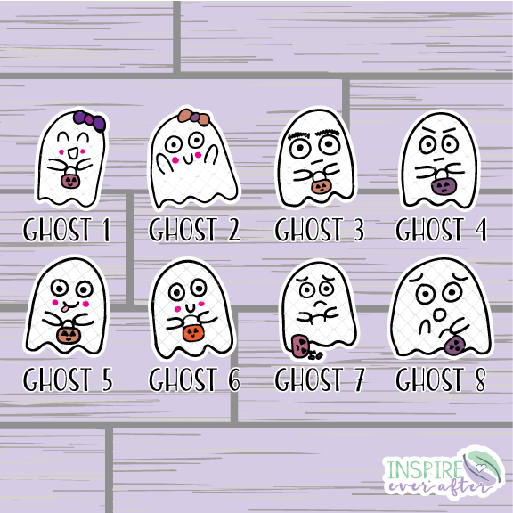 The Boo Crew Die Cut ~ Hand Drawn Halloween Ghost ~ Planner Accessories
