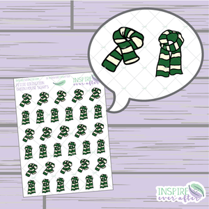 Magical Green House Scarf ~ Hand Drawn Petite Collection ~ Planner Stickers