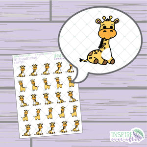 Giraffes ~ Hand Drawn Petite Collection ~ Planner Stickers