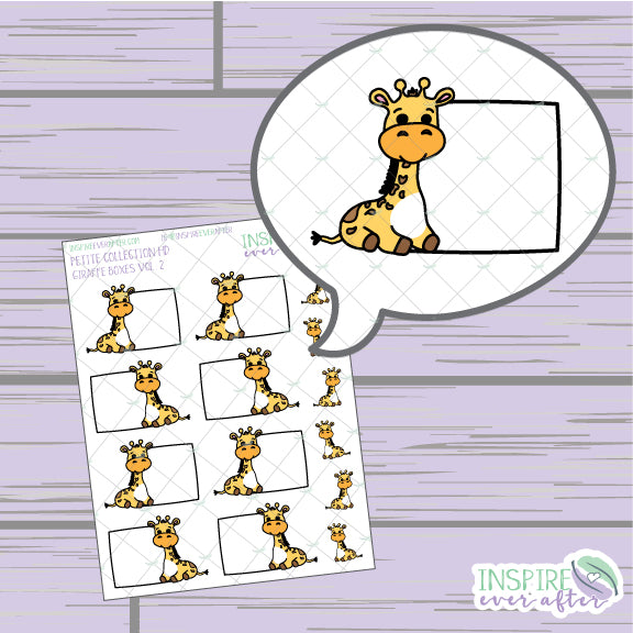 Giraffe Box, Vol. 2 ~ Hand Drawn Petite Collection ~ Planner Stickers