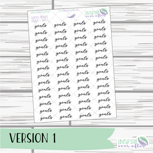 Goals ~ Script OR Print ~ Script Series ~ Planner Stickers