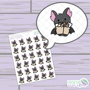 Grocery Shoppin' Bat ~ Hand Drawn Icons ~ Petite Collection ~ Planner Stickers