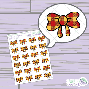 Magical Red House Bows ~ Hand Drawn Petite Collection ~ Planner Stickers