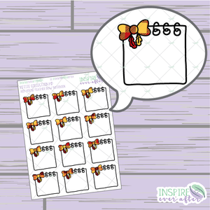 Magical Red House Feather Bow Notebook ~ Hand Drawn Petite Collection ~ Planner Stickers