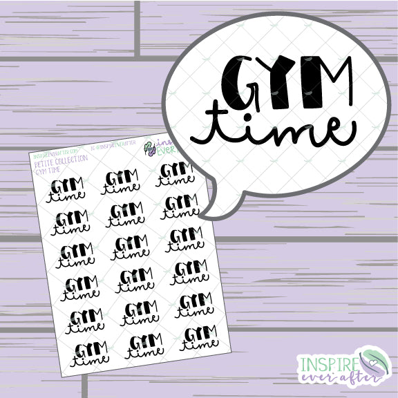 Gym Time ~ Hand Lettered Fitness Icon ~ Petite Collection ~ Planner Stickers