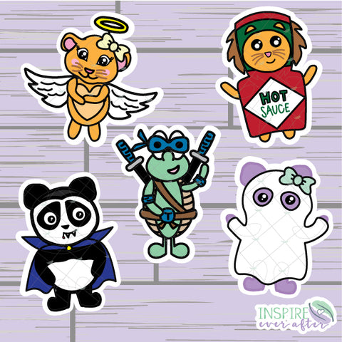 Halloween Character Die Cut ~ Zion, Luna, Stevie, Lila OR Theo ~ Hand Drawn Planner Accessories