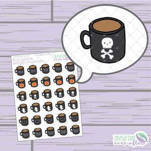 Halloween, Vol 2 Coffee/Tea Mugs ~ Hand Drawn Petite Collection ~ Planner Stickers