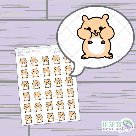 Hamsters ~ Hand Drawn Petite Collection ~ Planner Stickers